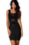 Black Sexy Lace Contrast Cocktail Party Evening Bodycon Dress