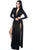 Black Super Classy Long Sleeves Double Slit Long Maxi Dress