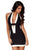 Black and White Color Deep V Neckline Bodycon Dress