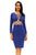 Blue CrissCross Cut Out Dress
