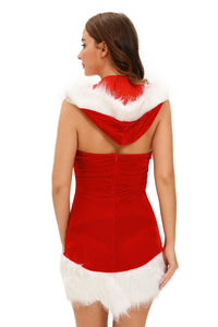Christmas Beauty Hooded Dress