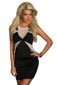 Classic Black Geometrical Bodycon Dress