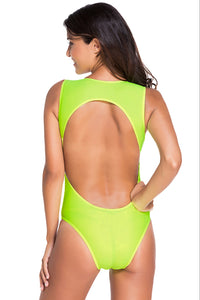 Cool Summer Mansion Neon Green One-piece Swimwear