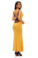 Crochet Back Detail Sleeveless Yellow Maxi Dress