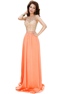 Glamours Lace Satin Maxi Party Dress