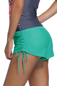 Green Ruched Side Swimsuit Bottom