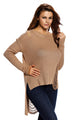 Khaki Sheer Knit Tangled Long Tail Sweater