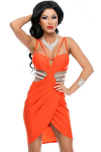 Luxury Sexiness Tulip Wrap Club Dress