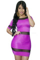 Purple Mesh Spice Club Bodycon Dress
