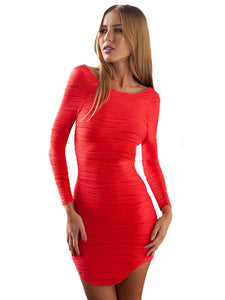 Red Bodycon Dress with Cut out Back