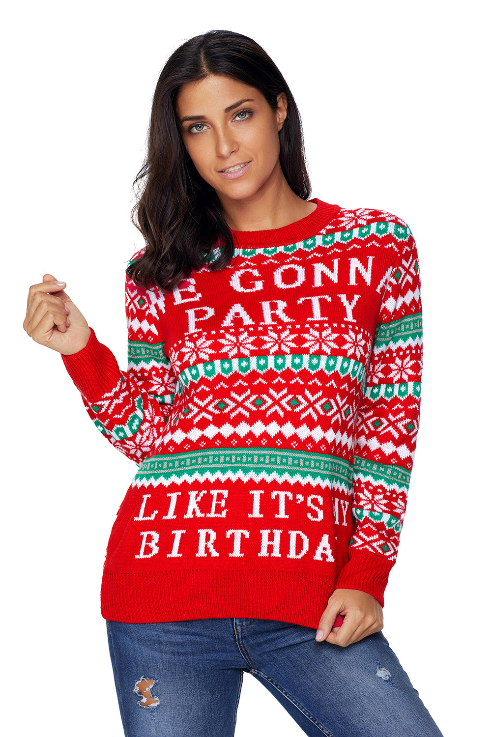 af9f9e1efa3 Sexy Red WE GONNA PARTY Ugly Christmas Sweater – SEXY AFFORDABLE CLOTHING