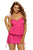 Rosy Halter Bikini Top One Piece Adjustable Swim Dress