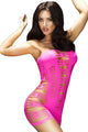 Rosy Hollow-out Flirty Tube Chemise