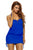 Royal Blue Halter Bikini Top One Piece Adjustable Swim Dress