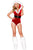 Sexy 2pcs Miss Santa Beauty Secret Christmas Costume