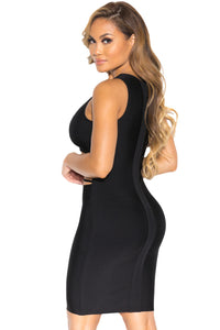 Sexy Abdomen Cut out Little Black Party Bandage Dress