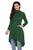 Sexy Army Green Long Sleeve Pocket High Low Tunic