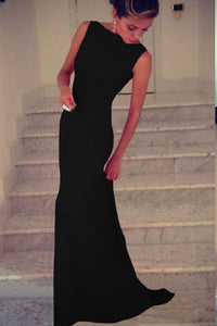 Sexy Black Elegant Maxi Dress