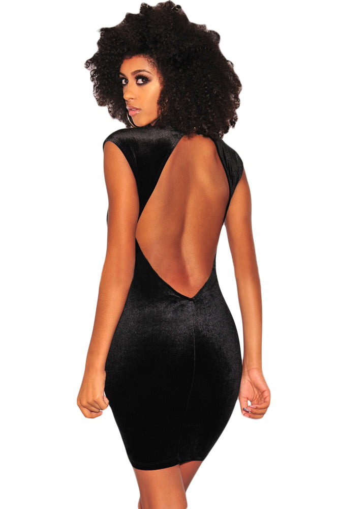541f58e7c5 Sexy Black Mesh Bustier Velvet Mock Neck Dress – SEXY AFFORDABLE ...