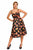 Sexy Black Pin-up Digital Floral Swing Vintage Dress