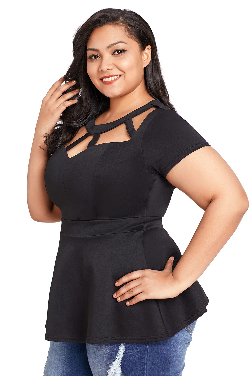98ecec1cb7f Sexy Black Plus Size Caged Top – SEXY AFFORDABLE CLOTHING