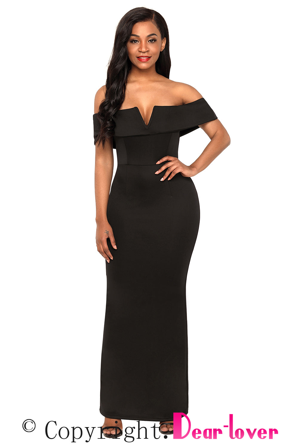 Sexy black evening dresses