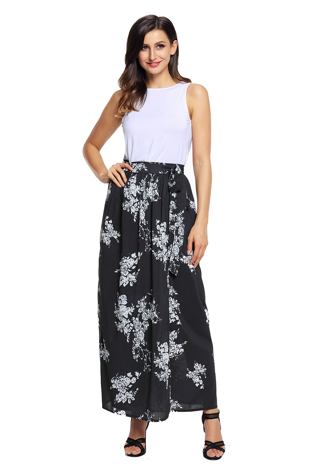 Black And White Maxi Skirt Outfit – DACC