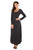 Sexy Black Y Strap Neckline Relaxed Long Jersey Dress
