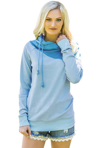 Sexy Blue Duotone Chic Hooded Sweatshirt
