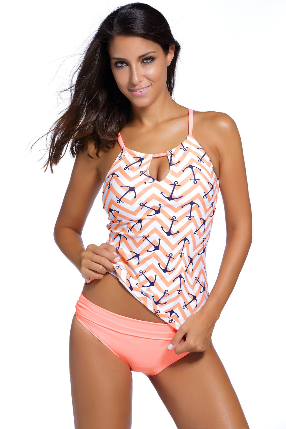 b0ca87eaee57e Sexy Chic Anchor Print Pink 2pcs Tankini Swimsuit – SEXY AFFORDABLE CLOTHING