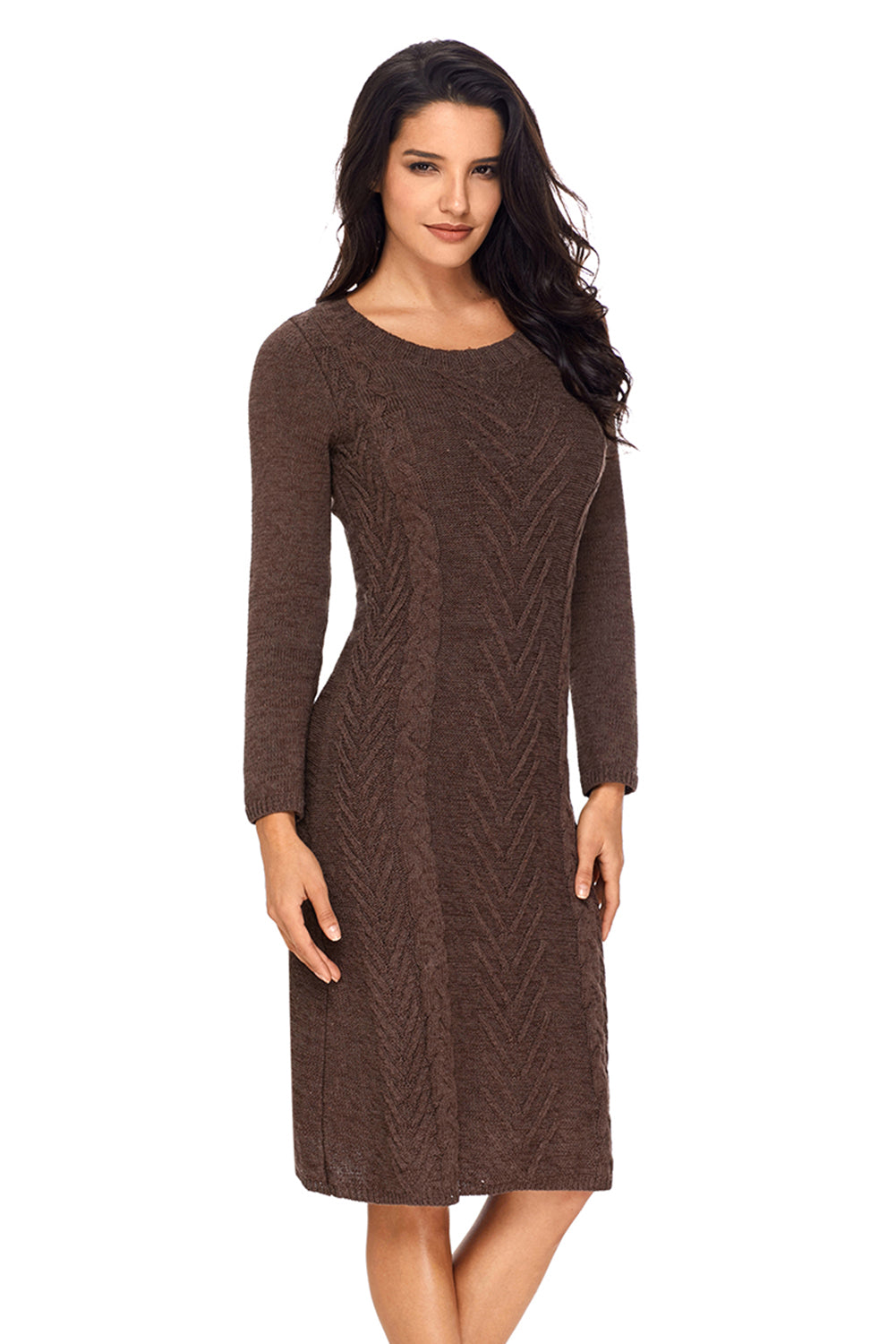 525025a5e516 Sexy Coffee Women s Hand Knitted Sweater Dress – SEXY AFFORDABLE ...