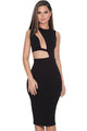 Sexy Cutout Black Bodycon Dress