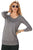 Sexy Gray Scoop Neck Long Sleeve Sweatshirt
