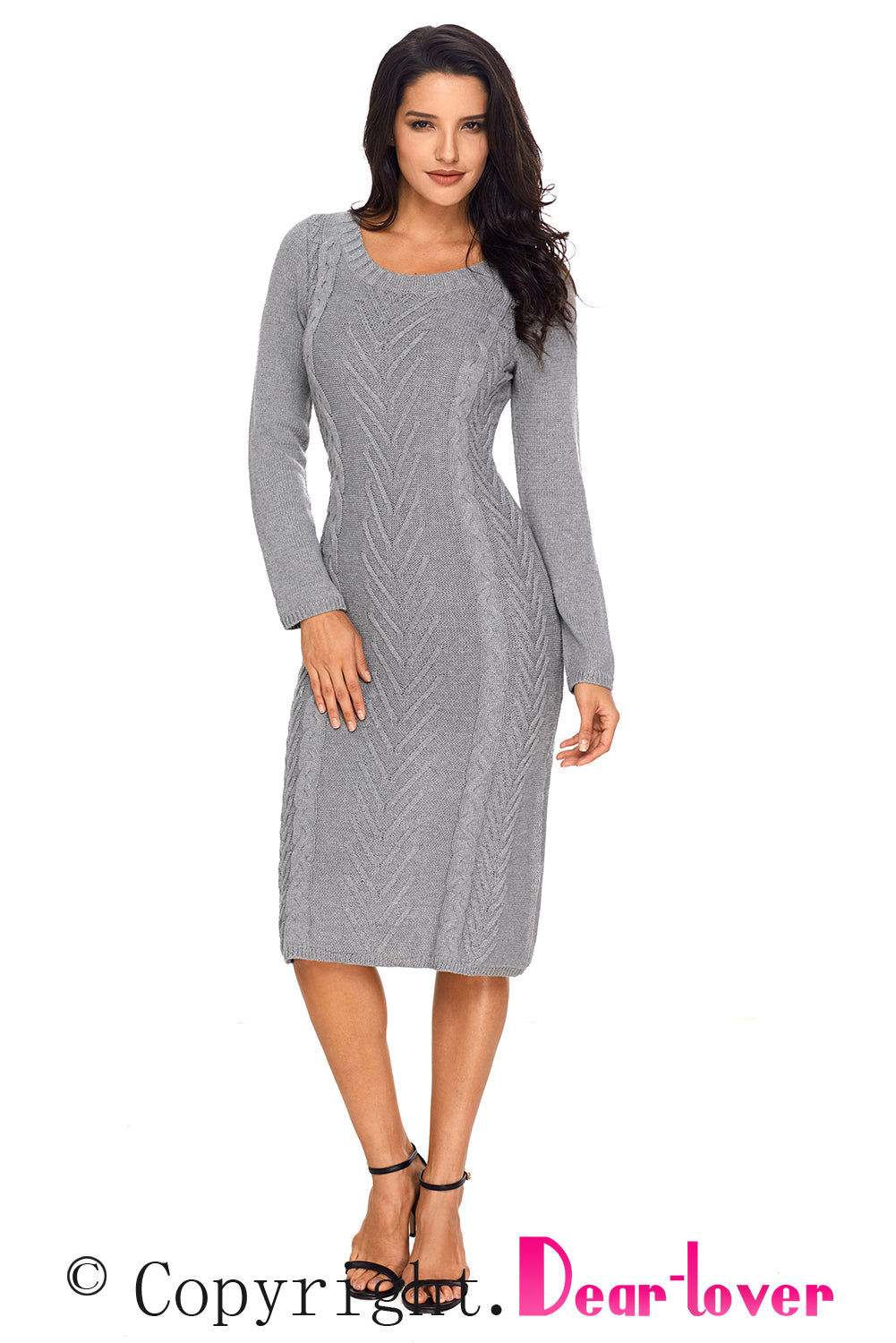 809d73a21cd Sexy Gray Women s Hand Knitted Sweater Dress – SexyAffordableClothing