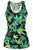 Sexy Green Leaves Print Adult Waistcoat