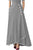Sexy Grey Piped Button Embellished High Waist Maxi Skirt