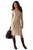 Sexy Khaki Women's Hand Knitted Sweater Dress