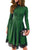Sexy Lace Hemline Detail Green Long Sleeve Skater Dress
