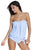 Sexy Light Blue 2pcs Bandeau Tankini Swimsuit
