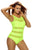 Sexy Lime Mirage Mesh Insert One-Piece Swimsuit