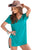 Sexy Mint Cozy Short Sleeves T-shirt Cover-up