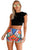 Sexy Multicolor Tribal Print Party High Waist Shorts