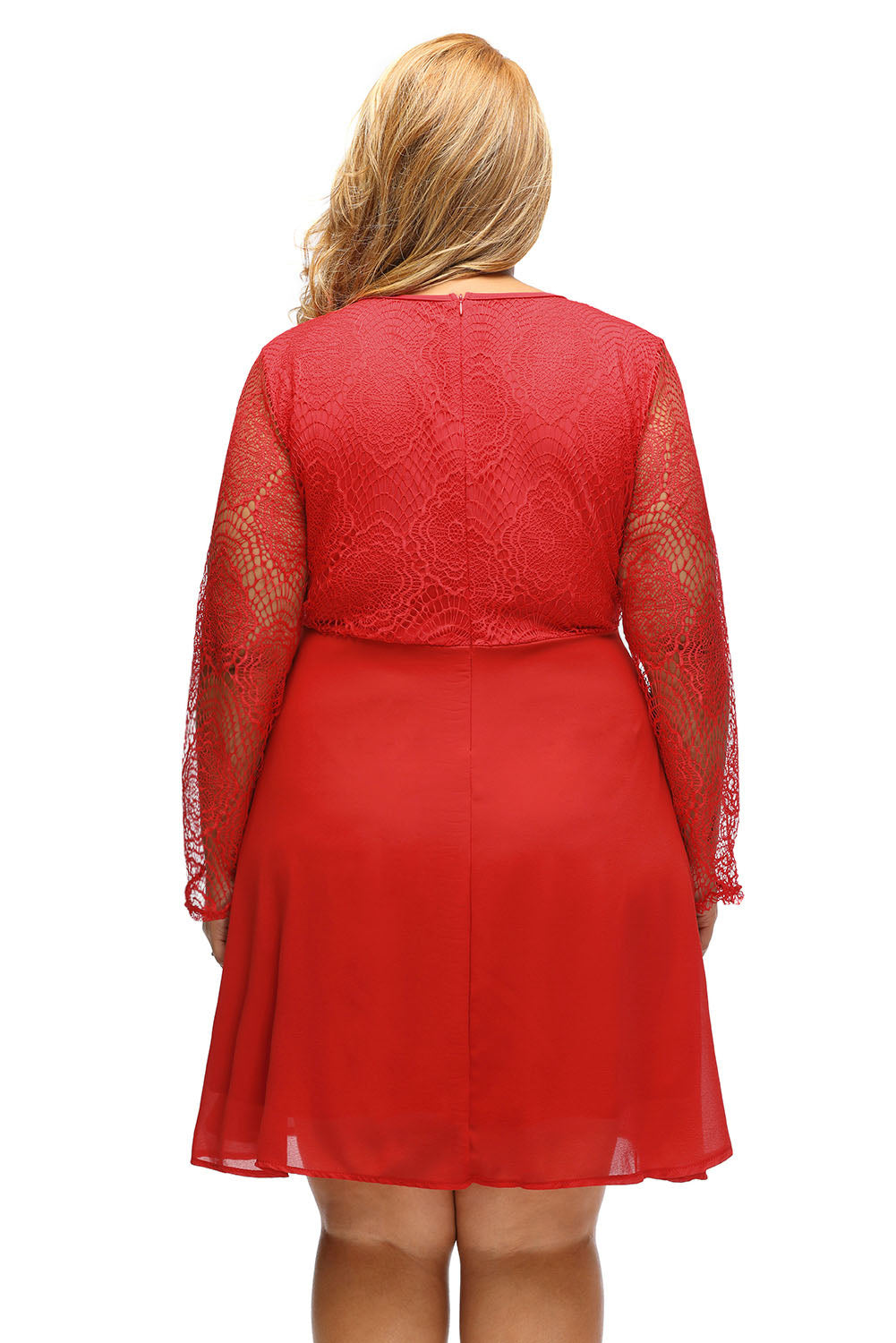ee00e7a1b0 Sexy Red Boohoo Plus Size Lace Top Skater Dress – SEXY AFFORDABLE ...