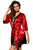 Sexy Red Luxurious Satin Robe Nightwear
