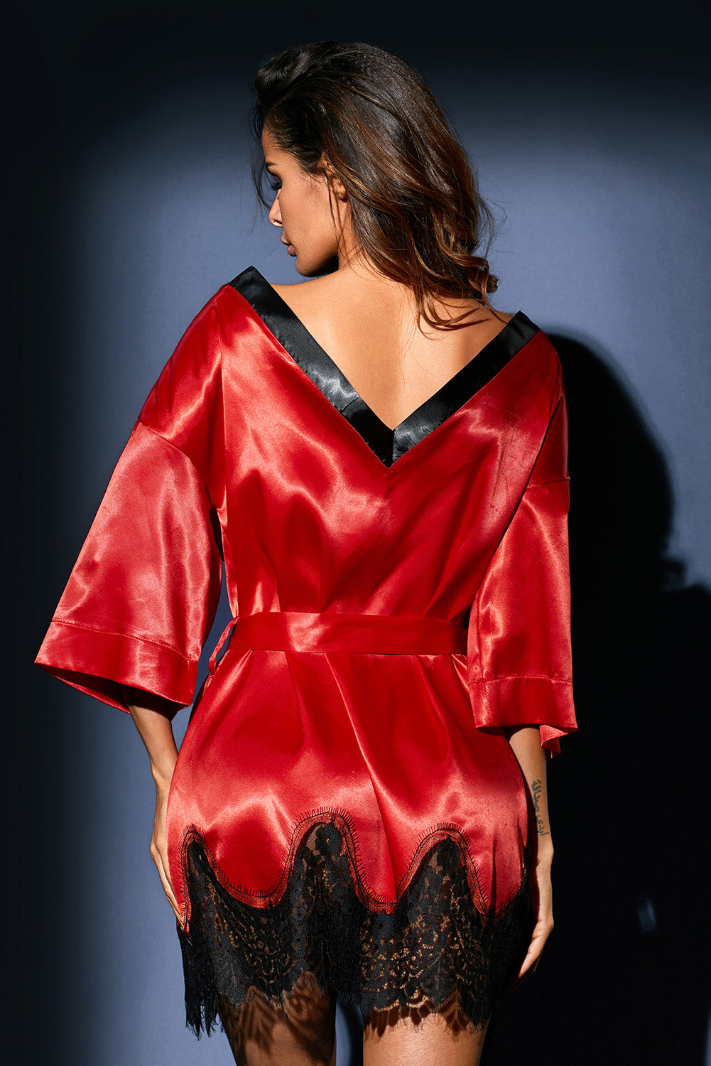 3185faaf7a133 Sexy Red Luxurious Satin Robe Nightwear – SEXY AFFORDABLE CLOTHING