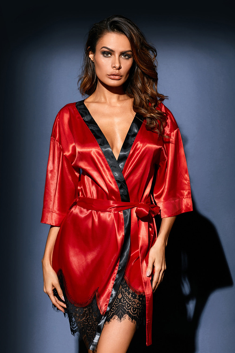7c286e3d1d Sexy Red Luxurious Satin Robe Nightwear – SEXY AFFORDABLE CLOTHING