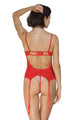 Sexy Red Midnight Affair Bustier Thong Handcuff
