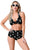 Sexy Retro 1950s Black Anchors Halter Sailor High Waist Swimwear