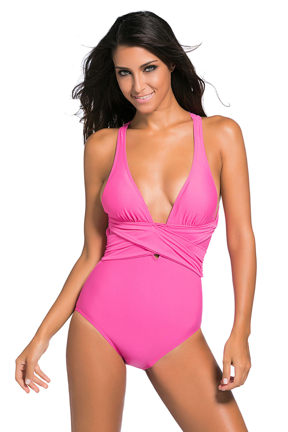 e1211465e4b71 Sexy Rosy Self Tie One Piece Swimsuit – SEXY AFFORDABLE CLOTHING