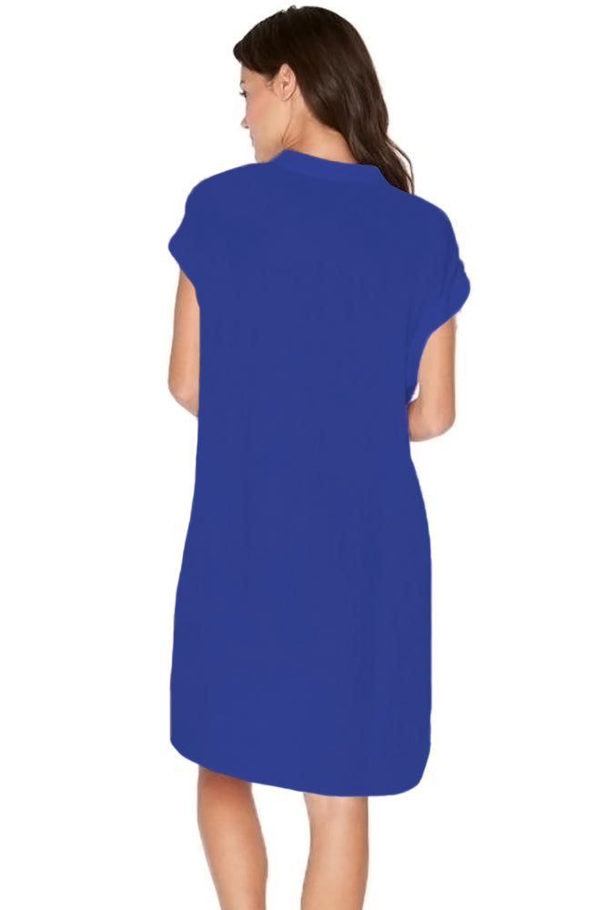 3b4d694802a93 Sexy Royal Blue Oversize Shirt Style Beach Cover Up – SEXY ...